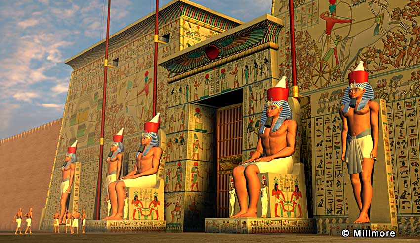 Egyptian temples architecture