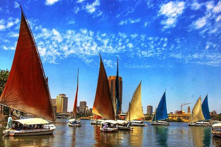 Nile Felucca Ride in Cairo from the Airport