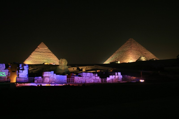 Giza Pyramids Sound and Light Show from Airport | Layover Tour to Cairo