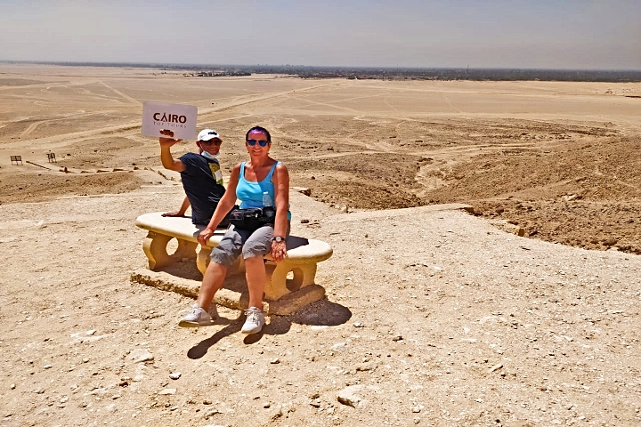 Tour to Giza Pyramids and Meidum from Cairo.