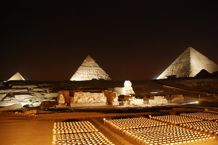 Giza Pyramids Sound and Light Show from Airport | Layover Tour to Cairo.